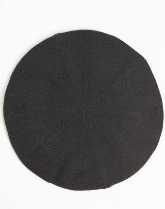 Béret noir en cachemire ustave noir.