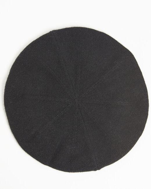 Béret noir en cachemire Ustave (1) - 1-2-3