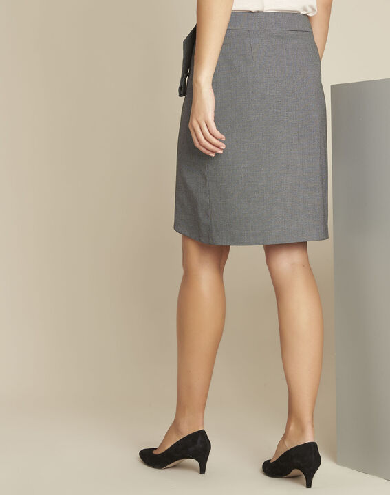 Lorine grey wallet skirt with buckle (4) - 1-2-3