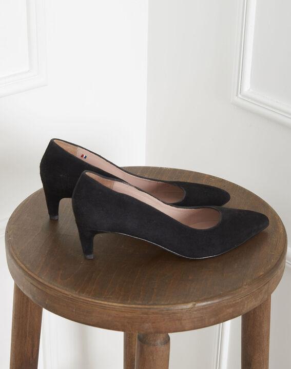 Zwarte pumps van veloursleder Lili (4) - Maison 123