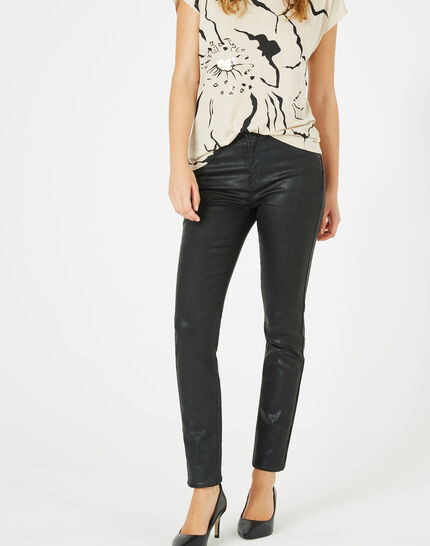 William coated slim-cut black trousers PhotoZ | 1-2-3