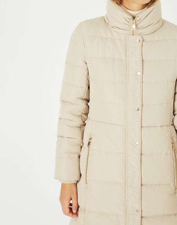 Lise mid-length cream puffer jacket (4) - 1-2-3