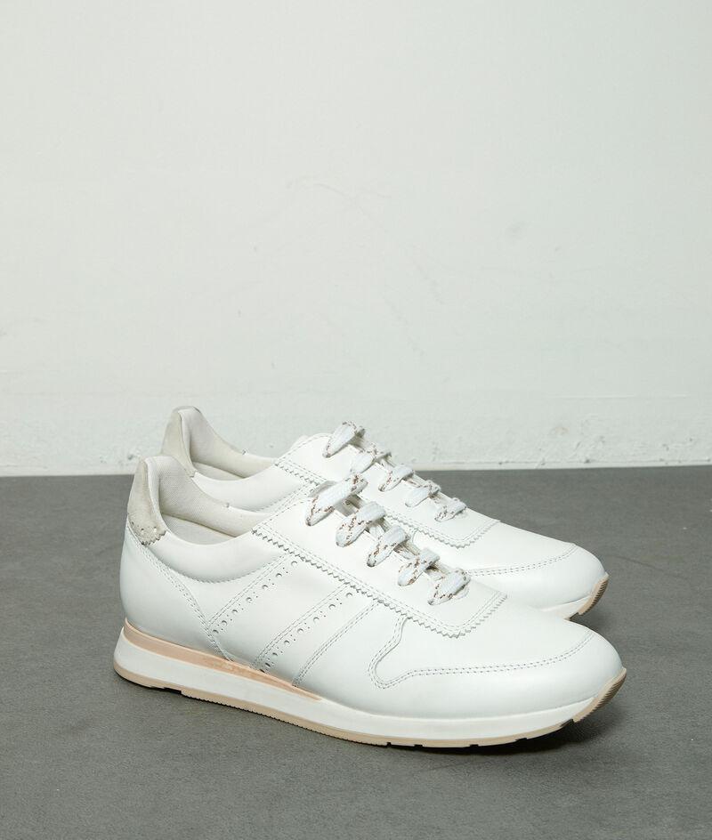 Sneakers en cuir blanc Holga PhotoZ | 1-2-3
