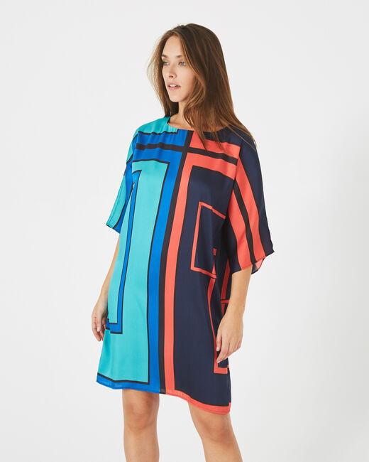 Amina straight-cut graphic printed dress (1) - 1-2-3