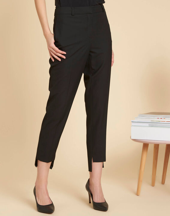 Sama tailored black trousers with cutouts along the hems (3) - 1-2-3