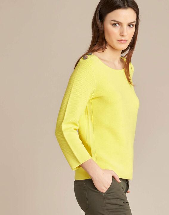 Zitronengelber 3/4-Arm-Pullover Neroli (3) - 1-2-3