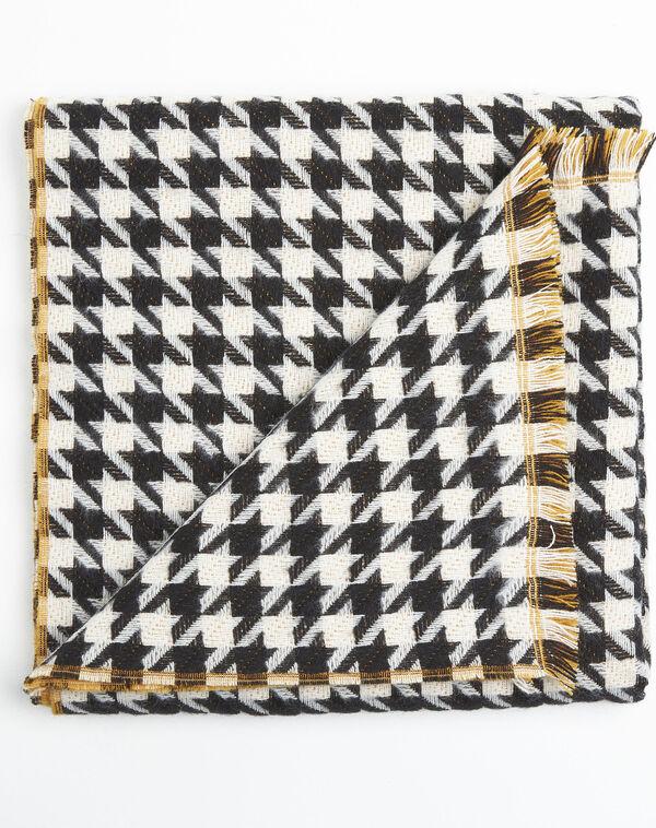 Echarpe motif pied de poule en laine Fautine (2) - 1-2-3