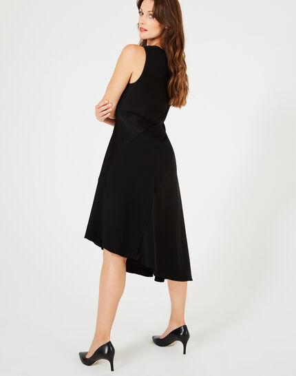Schwungvolles schwarzes Kleid mit Swarovski-Kristallen Beverly (4) - 1-2-3