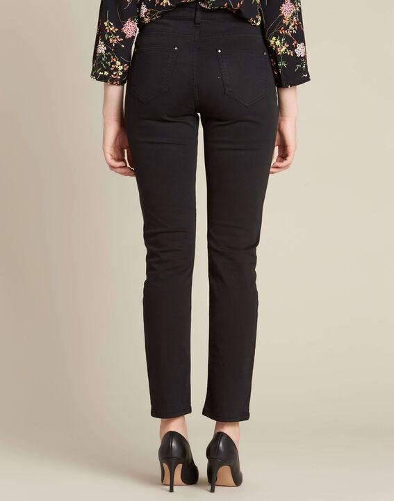 Schwarze Slim-Fit-Jeans normale Leibhöhe Vendome (4) - 1-2-3