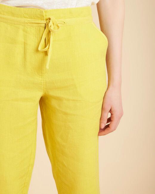 Pantalon jaune en lin Joris (2) - 1-2-3