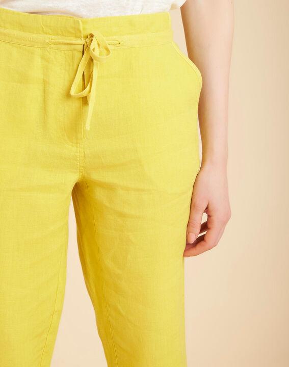 Pantalon jaune en lin Joris PhotoZ | 1-2-3
