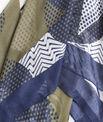 Foulard soie et modal vert imprimé graphique Flamme PhotoZ | 1-2-3