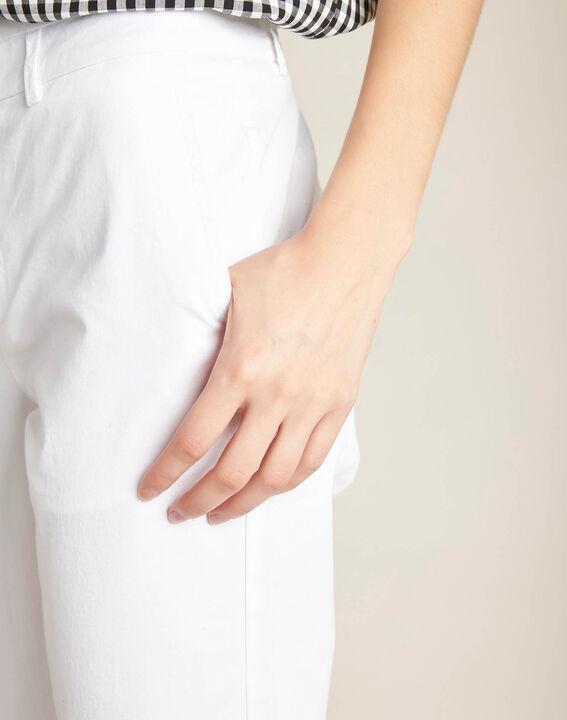 Pantacourt blanc lacets en coton Jamy PhotoZ | 1-2-3