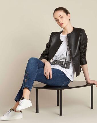 """Ecrufarbenes t-shirt mit """"pont des arts""""-print enamorada ecru."""