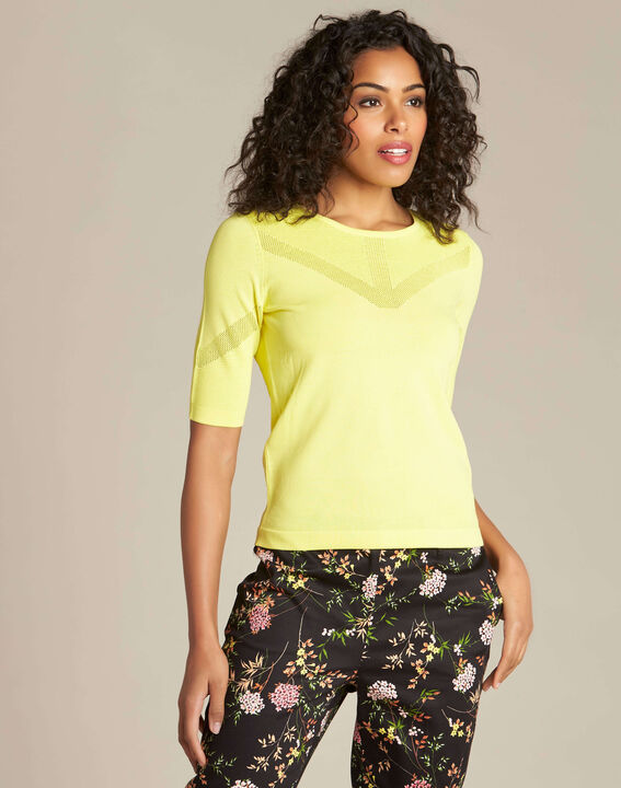 Pull citron encolure fantaisie Nymphe (3) - 1-2-3