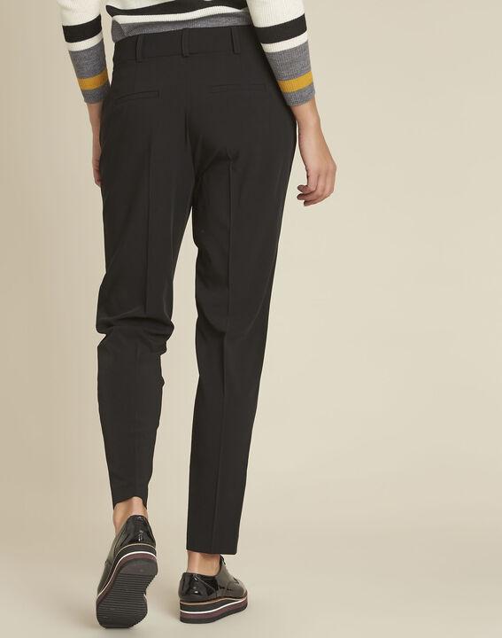 Fleurette black dart trousers with cigarette cut (4) - 1-2-3