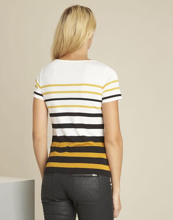 Gasayat amber striped crew neck t-shirt (4) - 1-2-3