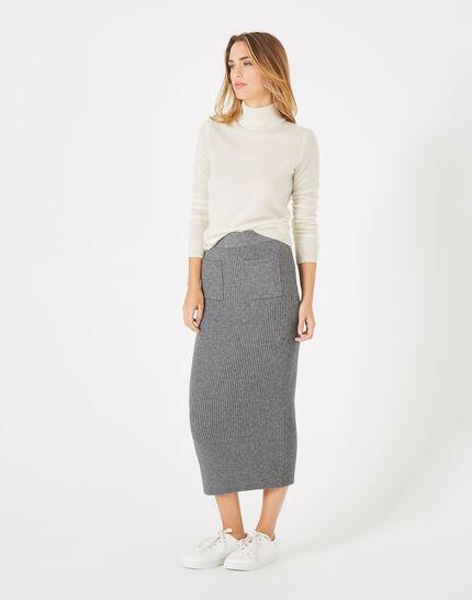 Flume long knitted skirt (2) - 1-2-3