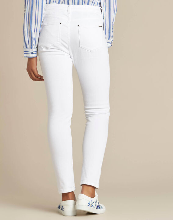 Vendôme white 7/8 length jeans (4) - 1-2-3
