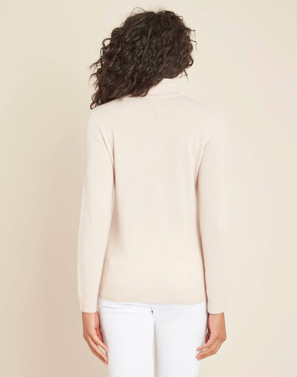 Perceneige pink polo-neck cashmere sweater (4) - 1-2-3