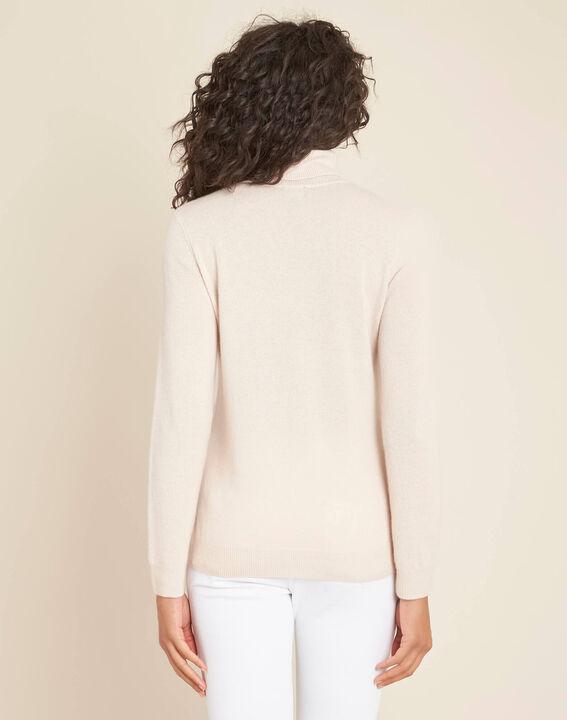 Perceneige pink polo-neck cashmere sweater (4) - 1-2-3