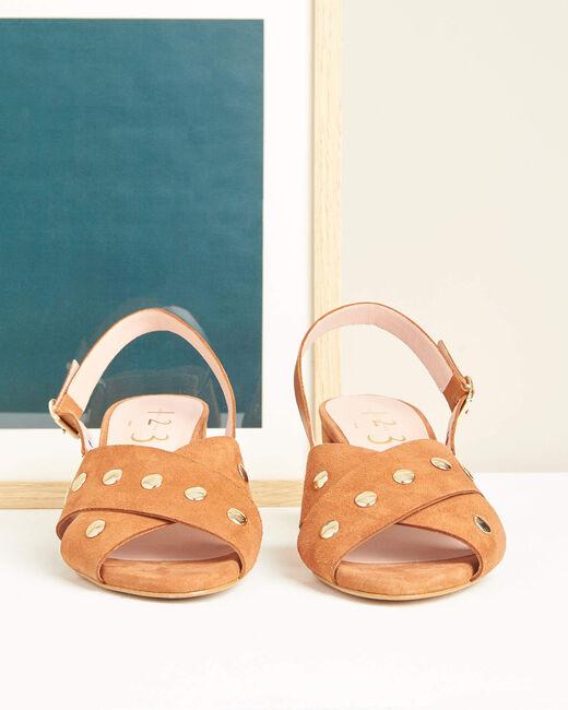 Sandales à talons camel Kitty (1) - 1-2-3