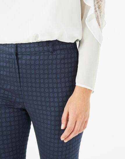 Pepper dark indigo jacquard trousers (3) - 1-2-3