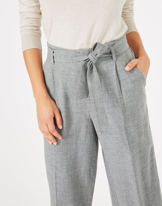 Pantalon gris cropped Kris (4) - 1-2-3