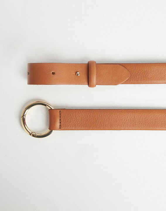 Romie camel belt with ring in leather PhotoZ | 1-2-3