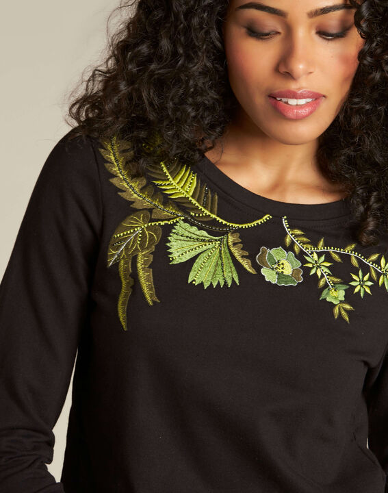 Electron black embroidered sweatshirt PhotoZ | 1-2-3