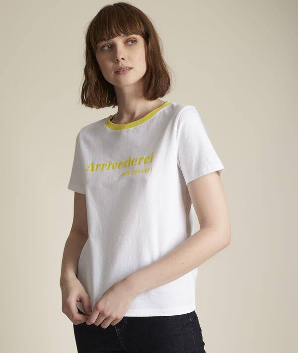 Tee-shirt en coton biologique jaune Rivale PhotoZ | 1-2-3