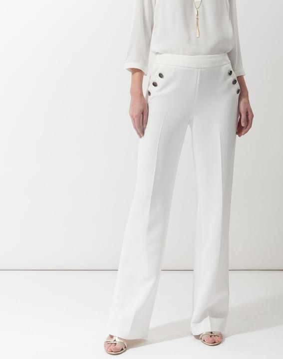 Pantalon large écru Romy (1) - 1-2-3 ... 2f2fd0a12fc