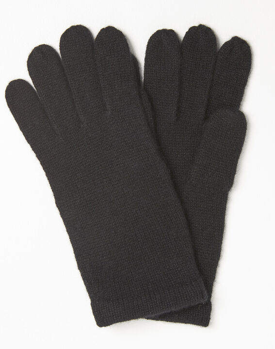 Ustavio black cashmere gloves PhotoZ | 1-2-3