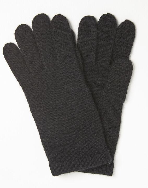 Schwarze Handschuhe aus Kaschmir Ustavio (1) - Maison 123