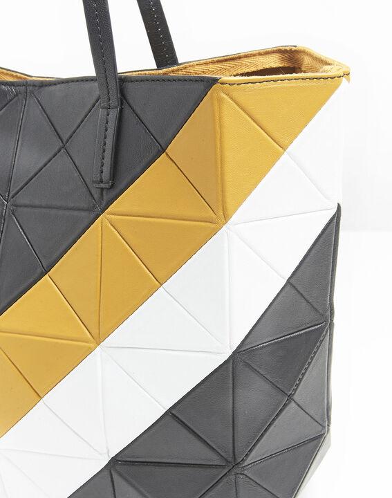 Ilari amber and black leather bag (2) - 1-2-3