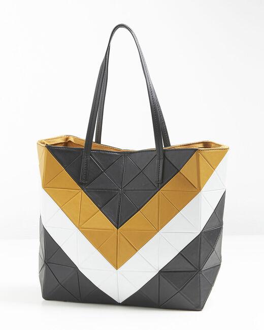 Leren tas in amber en zwart Ilari (2) - 37653