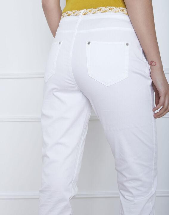 Weiße Chinohose mit modischem Gürtel Francis (4) - Maison 123