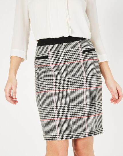 Filao black and white check skirt (1) - 1-2-3