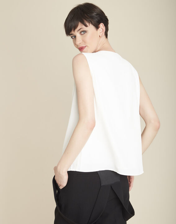 Fanette ecru top with jewelled detailing (4) - 1-2-3