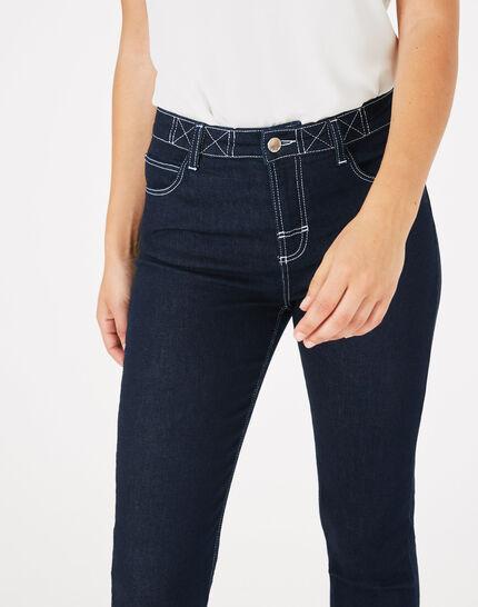 Raw Denim-Jeans mit weißen Ziernähten Oliver (2) - 1-2-3