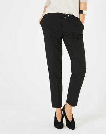 Pantalon jacquard noir vanille noir.