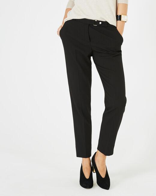 Pantalon jacquard noir Vanille (1) - 1-2-3