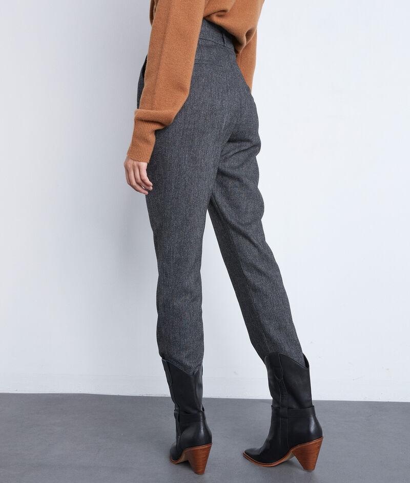 Pantalon de tailleur gris chiné Darcy PhotoZ   1-2-3