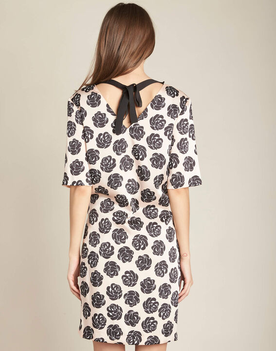 Ideal nude dress with floral print (4) - 1-2-3