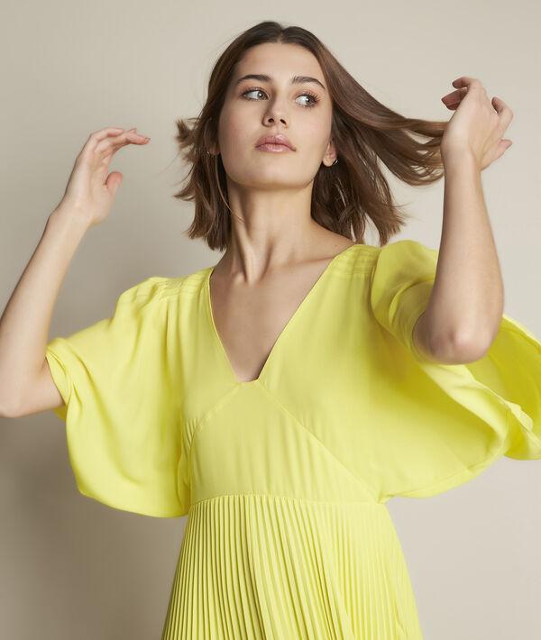 Robe plissée jaune Hedwige PhotoZ | 1-2-3