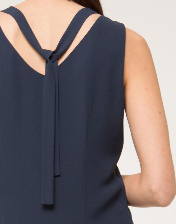 Robe bleue strass sur col Felicie (5) - 1-2-3