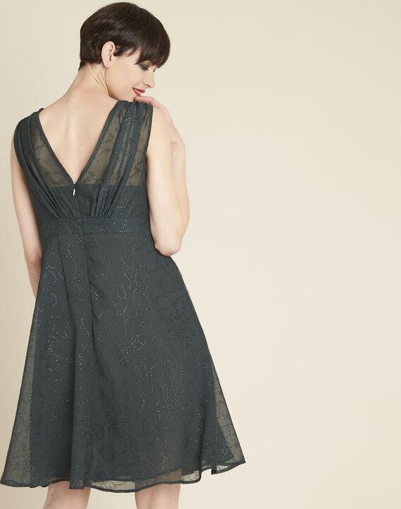 Dunkelgrünes Kleid mit Strass Nina (4) - 1-2-3