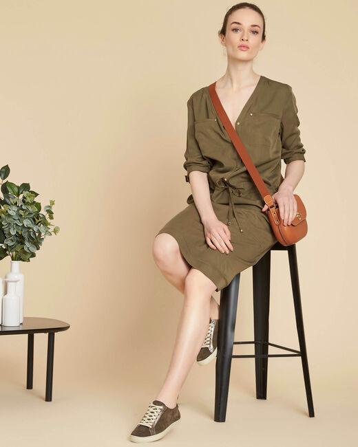 Pacifique soft khaki shirt-dress (1) - 1-2-3