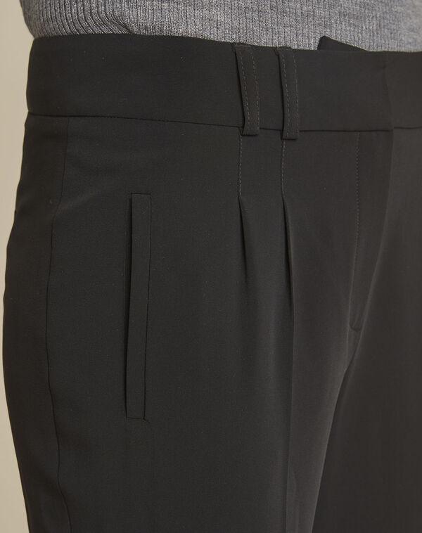 Pantalon noir cigarette à pinces Fleurette (2) - 1-2-3