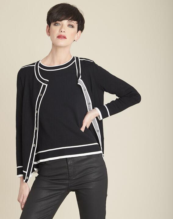 Gilet noir bords contrastés Beauty PhotoZ | 1-2-3